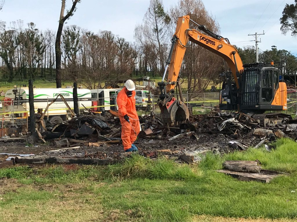 Remediation works at Gippsland Fire site