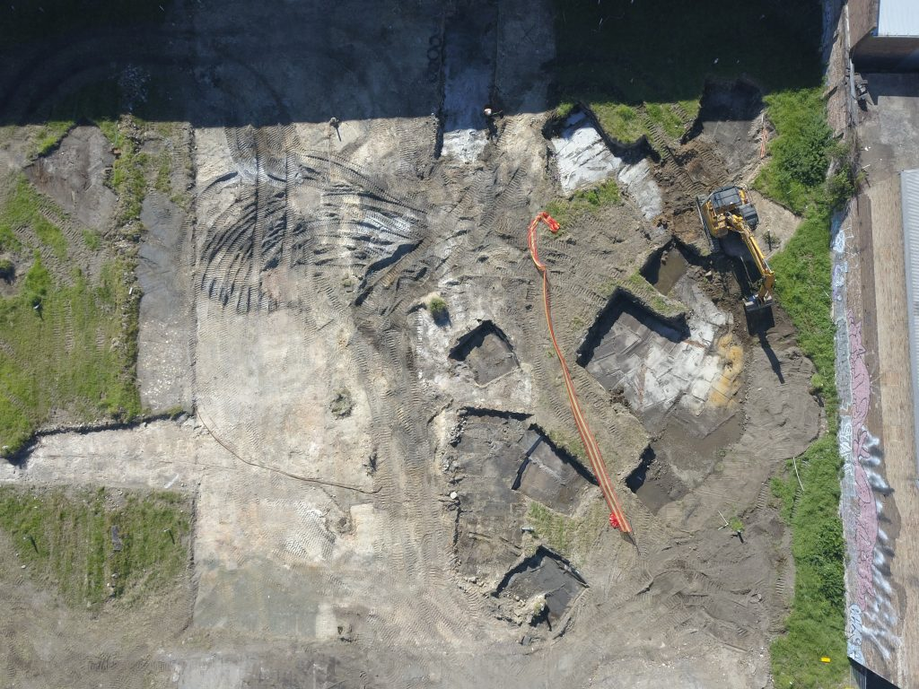 Demolition and Remediation project in Waterloo, overhead image of the site.